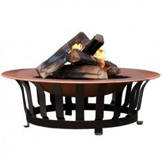 Copper Enamel Firepit. Heat up those late summer nights with one of these haut mommas!