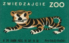 Poland tiger matchbox, from Bartholomew's illustrated map series 'Looking at London' 1977 via http://www.maraid.co.uk/