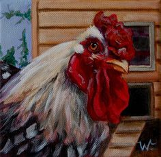 how to paint a rooster with acrylics - Google Search