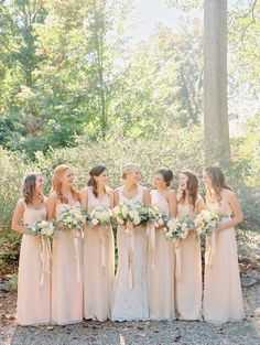 We love this color combo: http://www.stylemepretty.com/virginia-weddings/charlottesville/2015/03/17/whimsical-barn-wedding-with-romantic-details/ | Photography: Nancy Ray - http://nancyrayphotography.com/