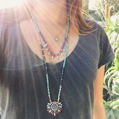 Add some solar flair to every look this season with our summer-ready collection! Layered Necklaces, bright colors, turquoise