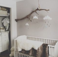 Drift wood mobile (make for adults with feathers, stones, wood) Kid et deco - La…