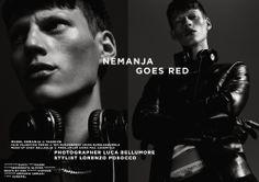 NEMANJA GOES RED