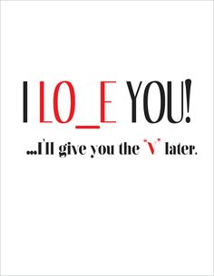 I love you card. A humorous and slightly inappropriate card to give to your significant other. A funny crass card by u street studio.