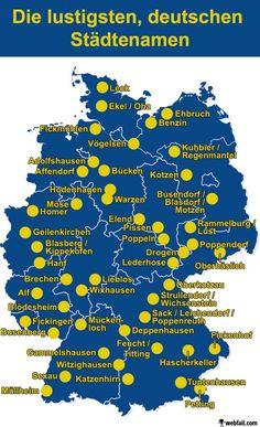 Die lustigsten, deutschen Städtenamen