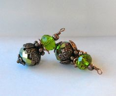 Hey, I found this really awesome Etsy listing at https://www.etsy.com/listing/476133955/2-metallic-green-and-copper-vintage