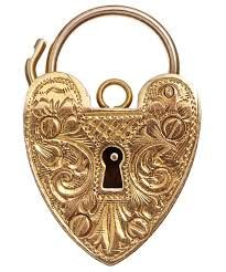 puffy heart pendlock antique - Google Search