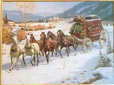 Old Western Stagecoach Horses Cowboy Prayer, Cowboy Artwork, Old West Town, Horse Drawn Wagon, Bad Art, Real Cowboys, West Art, Horse Carriage, Great Paintings