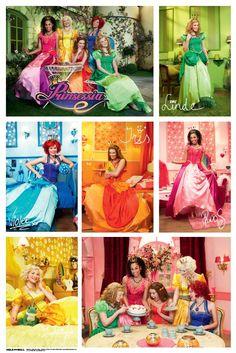 Prinsessia collage poster afdrukken ,net als kamers van prinsessen
