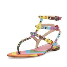Valentino leather sandal with signature Rockstud trim. Description from polyvore.com. I searched for this on bing.com/images