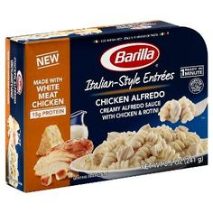 Barilla Chicken Alfredo with Rotini oz. Beef Recipes For Dinner, Snack Recipes, Breaded Shrimp, Bread Packaging, Junk Food Snacks, Microwave Recipes, Chicken Alfredo, Aesthetic Food, Travel Cubes