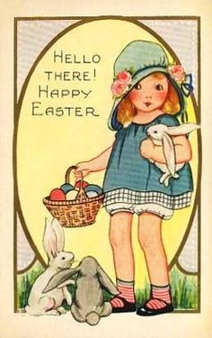 Vintage Girl With Easter Bunnies & Eggs Easter Car Postcards today price drop and special promotion. Get The best buyThis Deals Vintage Girl With Easter Bunnies & Eggs Easter Car Postcards Here a great deal. Easter Art, Easter Crafts, Easter Bunny, Happy Easter, Easter Eggs, Easter Vintage, Vintage Holiday, Vintage Pink, Vintage Greeting Cards