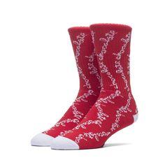 Huf x Chocolate Chunk Crew Socks - Red