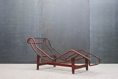 Le Corbusier French Industrial Chaise : 20th Century Vintage Industrial : Modern Fifty