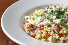 Grilled corn and queso fresco salad recipe