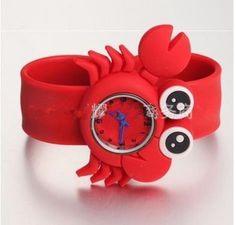 NEW! Cute 3D Cartoon Watch Kids Boy Girl Children`s Rubber Snap-on Slap Cuff Watch Gifts Idea (Red, Crab) $4.99 (75% OFF) Cartoon Fish, Kids Boys, Cancer, Watch, Children, Cute, Red, Gifts