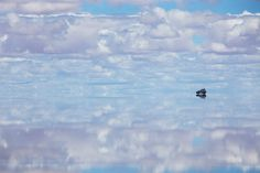 Salar de Uyuni, Bolivia   The largest reflective surface in the world.
