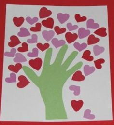 Fun Hand Craft for Valentine's Day -- great for Grandparents!