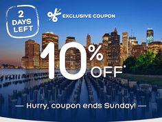 2 DAYS LEFT: 10% off coupon https://freshpickeddeals.com/hotels.com/2-days-left-10-off-coupon-749518