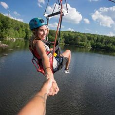 From Cloud 9 Living - Satisfy your urge for adventure as you fly high among the treetops and above a beautiful mountain lake on this Zipline Canopy Tour! Zipline Adventure, Family Adventure, Birthday Woman, 50th Birthday, Birthday Ideas, Photo Packages, Sailing Adventures, Extreme Weather, Cloud 9