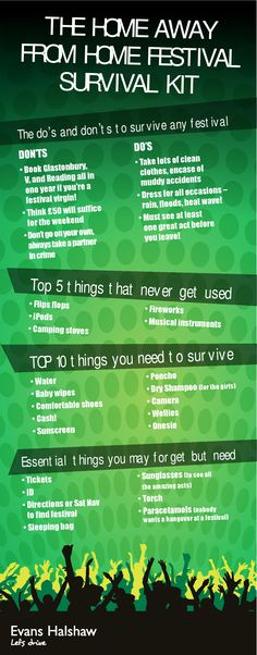"The Festival Survival Kit.  I enjoy Don'ts.... ""Don't go alone, always take a partner in crime. :)"
