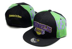 NBA LA Lakers Snapback Hats Caps Black Mitchell And Ness 2552! Only $7.90USD