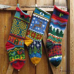 Gallery.ru / Фото #2 - вязаные носочки, но можно и вышить - my-joy