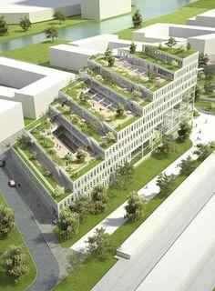 Architecture Durable, Plans Architecture, Modern Architecture Design, Green Architecture, Facade Design, Futuristic Architecture, Concept Architecture, Sustainable Architecture, Amazing Architecture