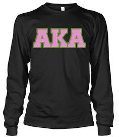 Alpha Kappa Alpha Greek Letter Long Sleeve