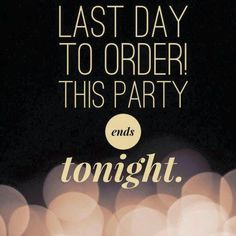 Last Day to Order Party Ends Tonight https://carrienitsche.scentsy.us