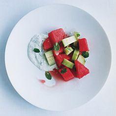 Watermelon and Cucumber Mint Tsatsiki Salad Recipe | Epicurious.com