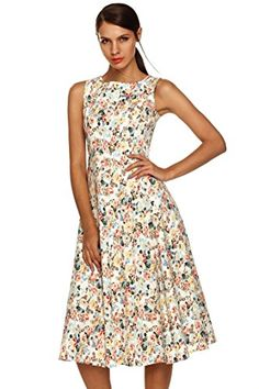 Fanala Ladies Womens Casual Floral Sleeveless Party Evening Cocktail Dress 3x *** You can find out more details at the link of the image.