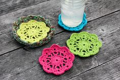 Ravelry: Summer Coaster Set pattern by Sara Delaney