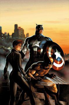 Uncanny Avengers by Jeremy Roberts #Wolverine #CaptainAmerica #BlackWidow