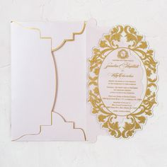 Blush and gold die cut acrylic invitation. The invitation is cut in a beautiful shape matching the envelope flap. It's elegant, delicate and luxurious. Acrylic Invitations, Invitation Cards, Storybook Wedding, Shape Matching, Blush And Gold, Elegant Wedding Invitations, Delicate, Shapes