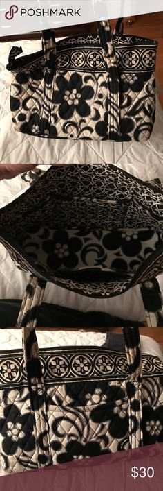 Vera Bradley Black and white pattern. 6 pockets inside. Zip closure purse. Front pocket. Vera Bradley Bags Totes