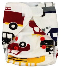 Cars Minky Velcro Pocket Newborn Diaper