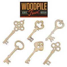 Laser Cut Wood Keys