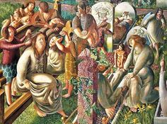 Stanley Spencer, (English, 1891-1959)  The Resurrection - Tidying, 1945