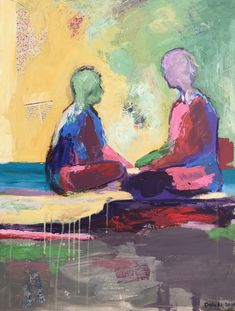 Original People Painting by Dalia Ali Original Paintings, Original Art, Abstract Art, Abstract Expressionism, Buy Art, Saatchi Art, Jordan Amman, Canvas Art, People Talk