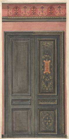 Jules-Edmond-Charles Lachaise | Design for a door | The Metropolitan Museum of Art