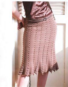 Crochetemoda: Saia Marrom de Crochet II