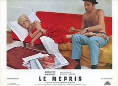 BRIGITTE BARDOT JEAN-LUC GODARD LE MEPRIS 1963