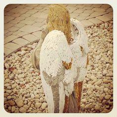a mosaic angel