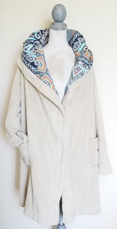 JOHNNY WAS CREAM ECKLEY HOODIE SIZE L REVERSIBLE  #JohnnyWas #FleeceJacket #travel #winter #fall #fashion #style #ebay #buy #shopping #gift #christmas #warm #cozy #hoodie