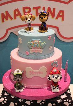 Bolo Do Paw Patrol, Skye Paw Patrol Cake, Paw Patrol Pinata, Cumple Paw Patrol, Paw Patrol Party, Shark Birthday Cakes, Paw Patrol Birthday Cake, Twin Birthday Parties, Baby Birthday