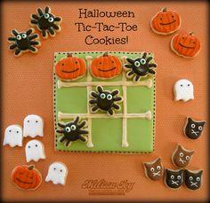 Halloween Tic-Tac-Toe Cookies! by Melissa Joy Cookies