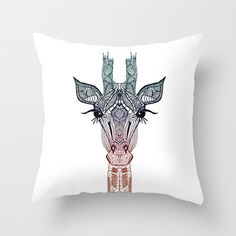 CUTE ..... GiRAFFE  ........Throw Pillow by M✿nika  Strigel	 | Society6 also available as iphone case, skin, lpad mini skin, laptop skin