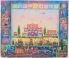 Taj Mahal, Vintage World Maps, Cottage, Paintings, Artists, Paint, Cottages, Painting Art, Painting
