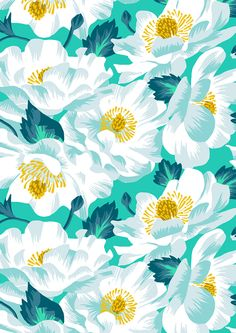 pattern, flower, white, art,